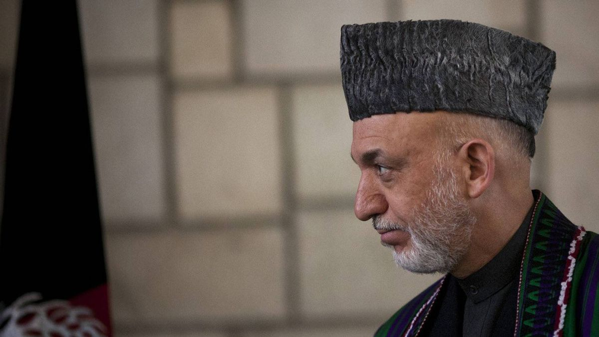 Afghan President Hamid Karzai looks on during a news conference in Kabul, Afghanistan, Tuesday, March 6, 2012.