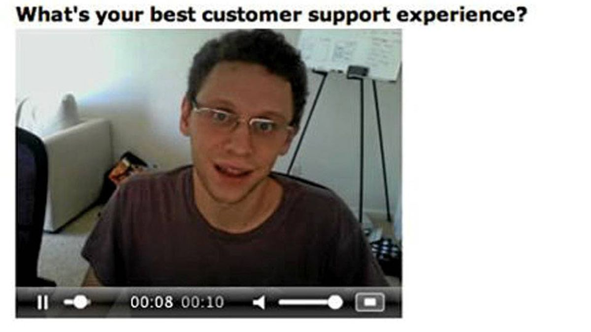 Screengrab from a sample interview developed by HireHive