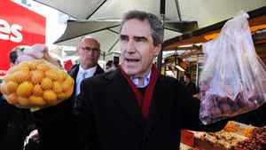 "Michael Ignatieff spent Monday in Toronto's Chinatown and in multicultural Mississauga – but he says he's not campaigning for the ethnic vote. The Liberal Leader, rather, suggested it is insulting what Stephen Harper and his immigration minister, Jason Kenney, are doing in their efforts to target the large ethnic vote, especially in the 905 region. ""I don't think it treats people with respect; these are Canadians. I'm going to everybody out there and saying a Canadian is a Canadian is a Canadian ... come into the Big Red Tent."""