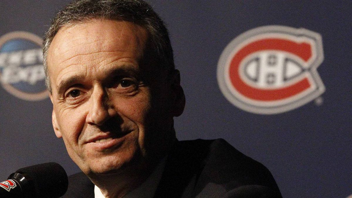 Pierre Gauthier, newly named general manager of the Montreal Canadiens smiles during a news conference to announce his appointment in Montreal, February 8, 2010. REUTERS/Christinne Muschi