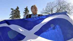 MMF president David Chartrand with the Metis Infinity Flag
