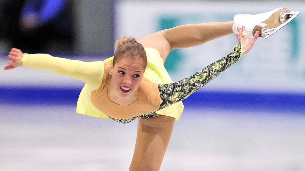 Carolina Kostner of Italy performs her short program to take first place in the women's competition at the ISU Grand Prix of Figure Skating Final Friday, December 9, 2011 in Quebec City. THE CANADIAN PRESS/Paul Chiasson