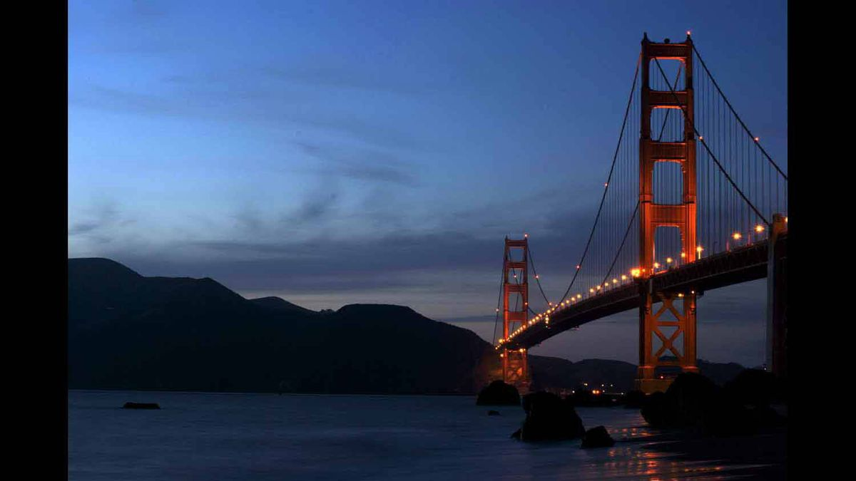 San Francisco's Golden Gate Bridge.