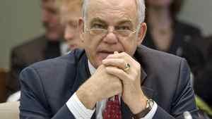 CRTC chairman Konrad von Finckenstein waits to appear before a Commons committee in Ottawa on Nov. 18, 2010.