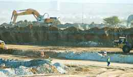 This is an undated handout photo of work at a Lonmin open cast mine in South Africa.