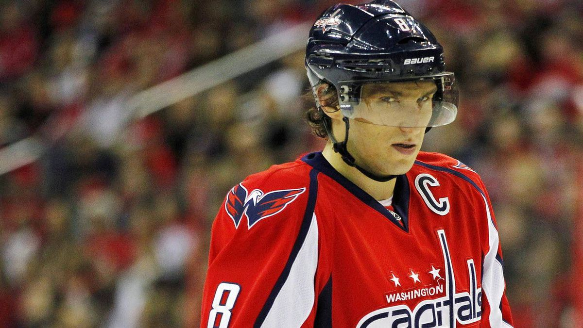 Alexander Ovechkin during a game against the Carolina Hurricanes, Jan. 15, 2012.