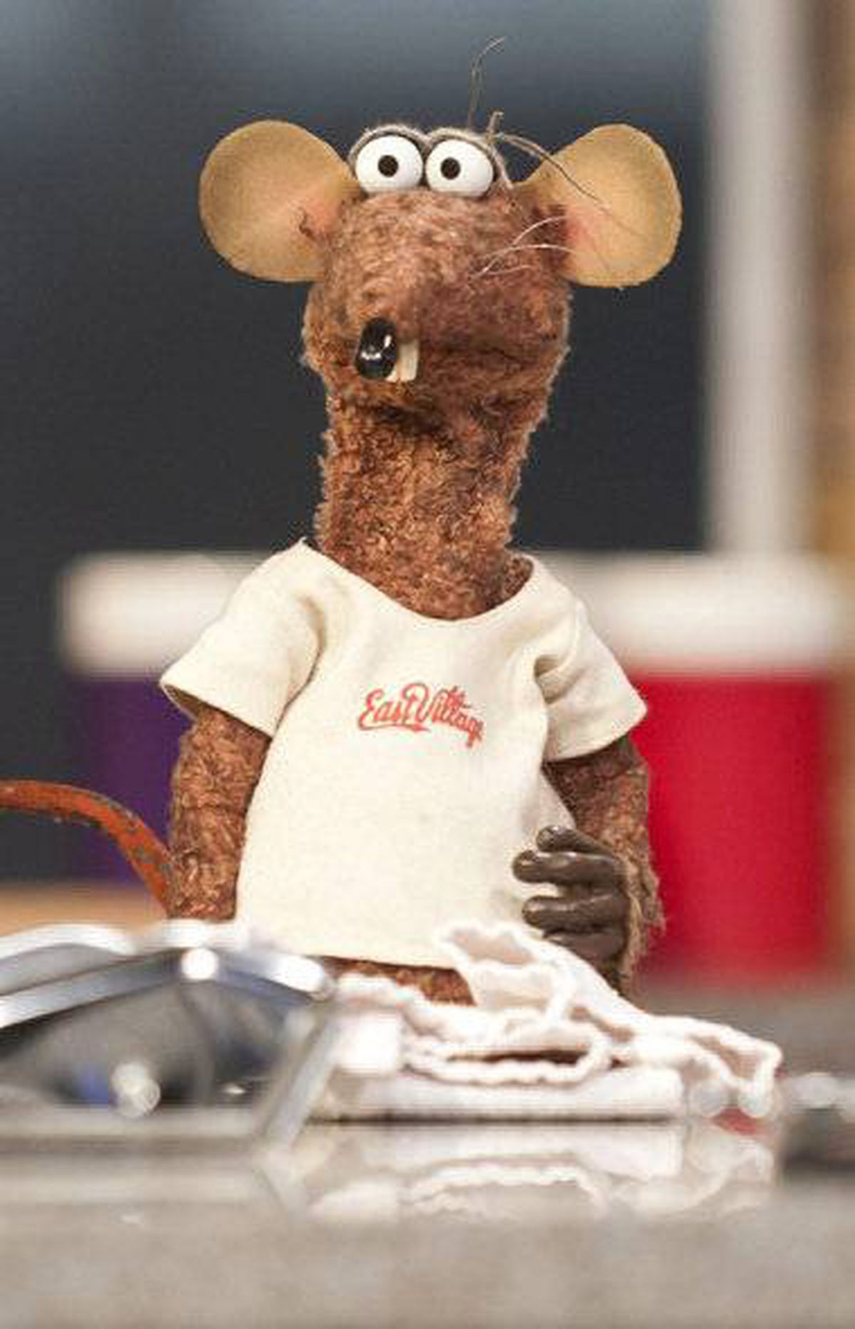 Rizzo the Rat during a cooking segment on 'This Morning' TV Program in London in February, 2012.
