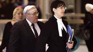 Winston Blackmore makes his way back into Tax Court in Vancouver, Monday, January 23, 2012.
