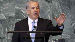 Israeli Prime Minister Benjamin Netanyahu addresses the 66th United Nations General Assembly at U.N. headquarters in New York, September 23, 2011.