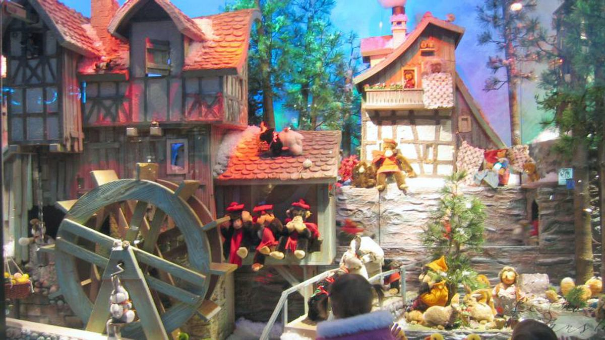 Ogilvy department store - Christmas windows. The familiar sight is a Montreal institution.
