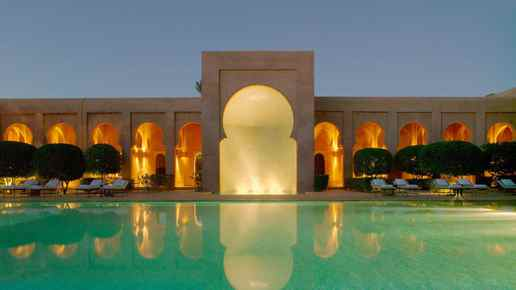 Amanjena luxury hotel and spa in Marakesh.