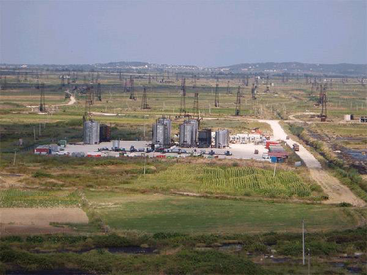 The Patos Marinza oil field in Albania