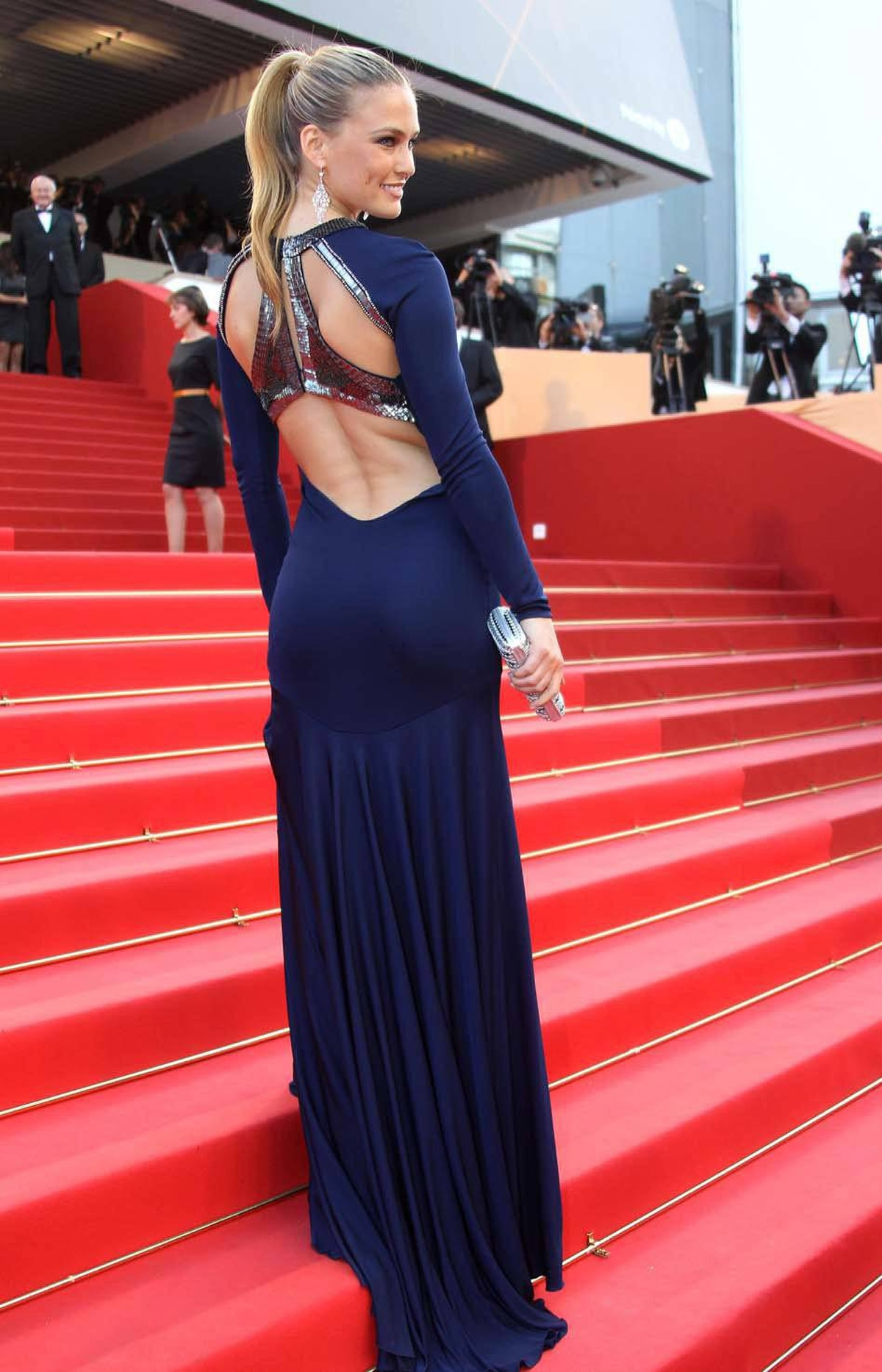 """Israeli model Bar Refaeli at the premiere of """"The Beaver"""" at the Cannes Film Festival on Tuesday."""