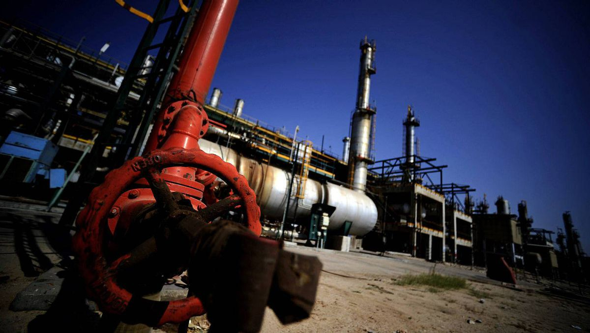 The Zawiya oil refinery, some 40 kilometres west of Tripoli, on Aug. 19, 2011, after Libyan rebels pushing to cut off Tripoli took complete control of the key plant, which is the only source of fuel for the capital.