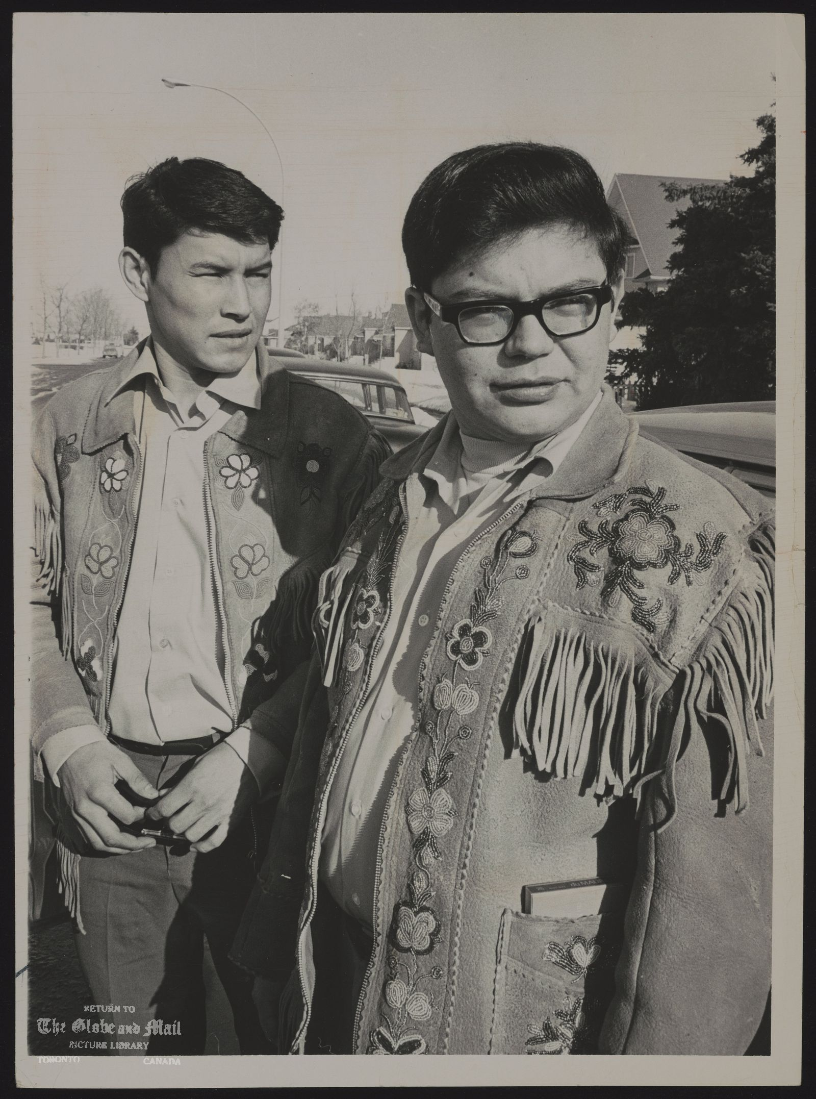 Harold CARDINAL Canada. Indian Leader Unjust Society author Harold Cardinal (right) with his assistant Tony Mercredi: no fanatical, fire-tongued militant -- but a man in tune with the ways of his people.