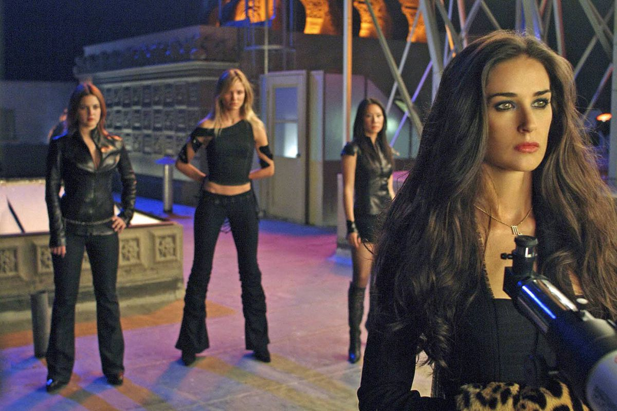 From left, Drew Barrymore, Cameron Diaz, Lucy Liu and Demi Moore in Charlie's Angels: Full Throttle (2003).