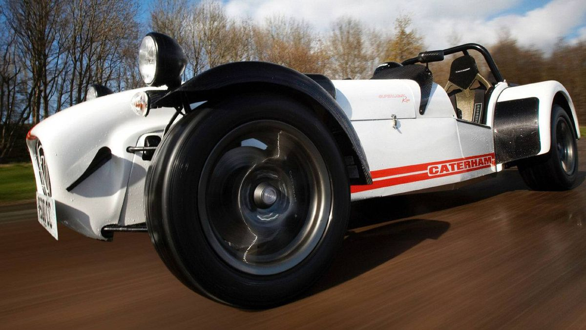 Caterham Seven: With no roof, no doors, and no air conditioning, the Seven is a raw, high-powered convertible that connects you with the road (and with rocks and bugs, if you take off the windshield).
