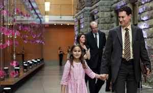 TORONTO -- May 13, 2012: Steve Paikin (right) and his daughter Giulia at the Royal Conservatory of Music 125th anniversary celebrating the Conservatory's newly appointed honorary fellows Measha Brueggergosman and Feist. Photo by Della Rollins for the Globe and Mail