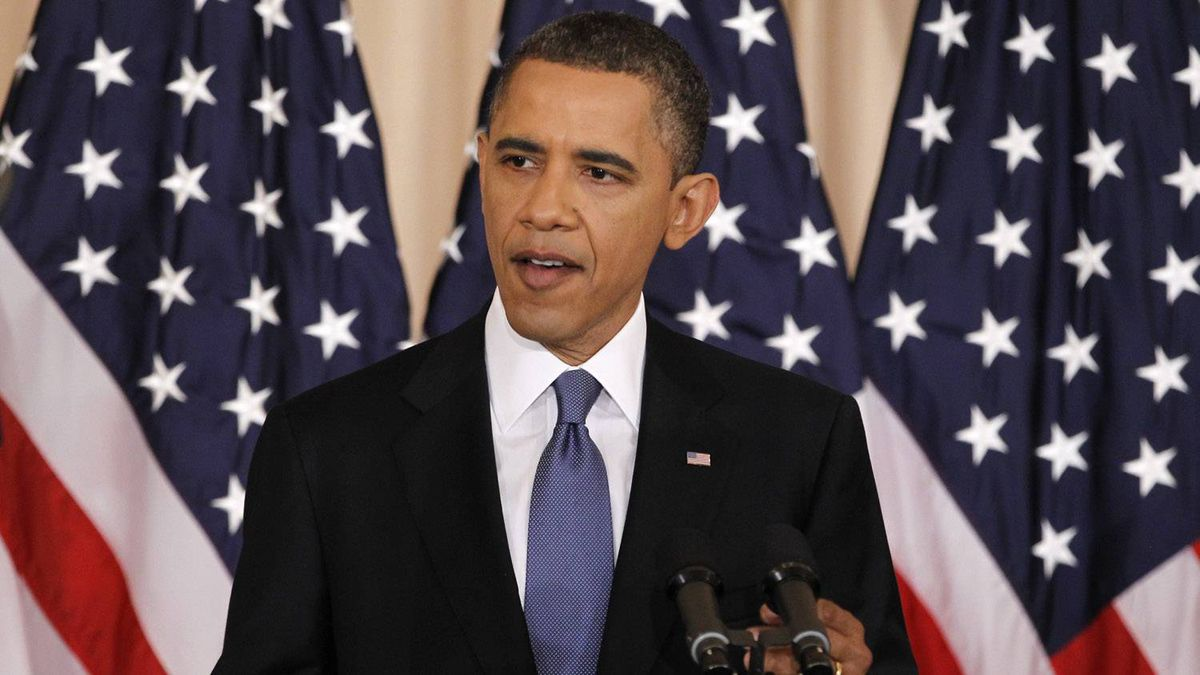 """U.S. President Barack Obama delivers a speech about United States' policy on the Middle East and North Africa at the State Department in Washington May 19, 2011. In his much-anticipated """"Arab spring"""" speech, Obama will try to reset relations with the Middle East, but his outreach could falter amid Arab frustration over an uneven U.S. response to the region's revolts and his failure to advance Israeli-Palestinian peacemaking."""