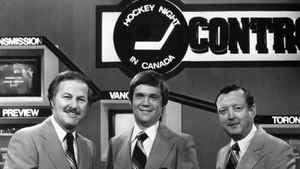 The faces of CBC's Hockey Night in Canada 31 years ago: From left, Brian McFarlane, Dave Hodge and Bill Hewitt.