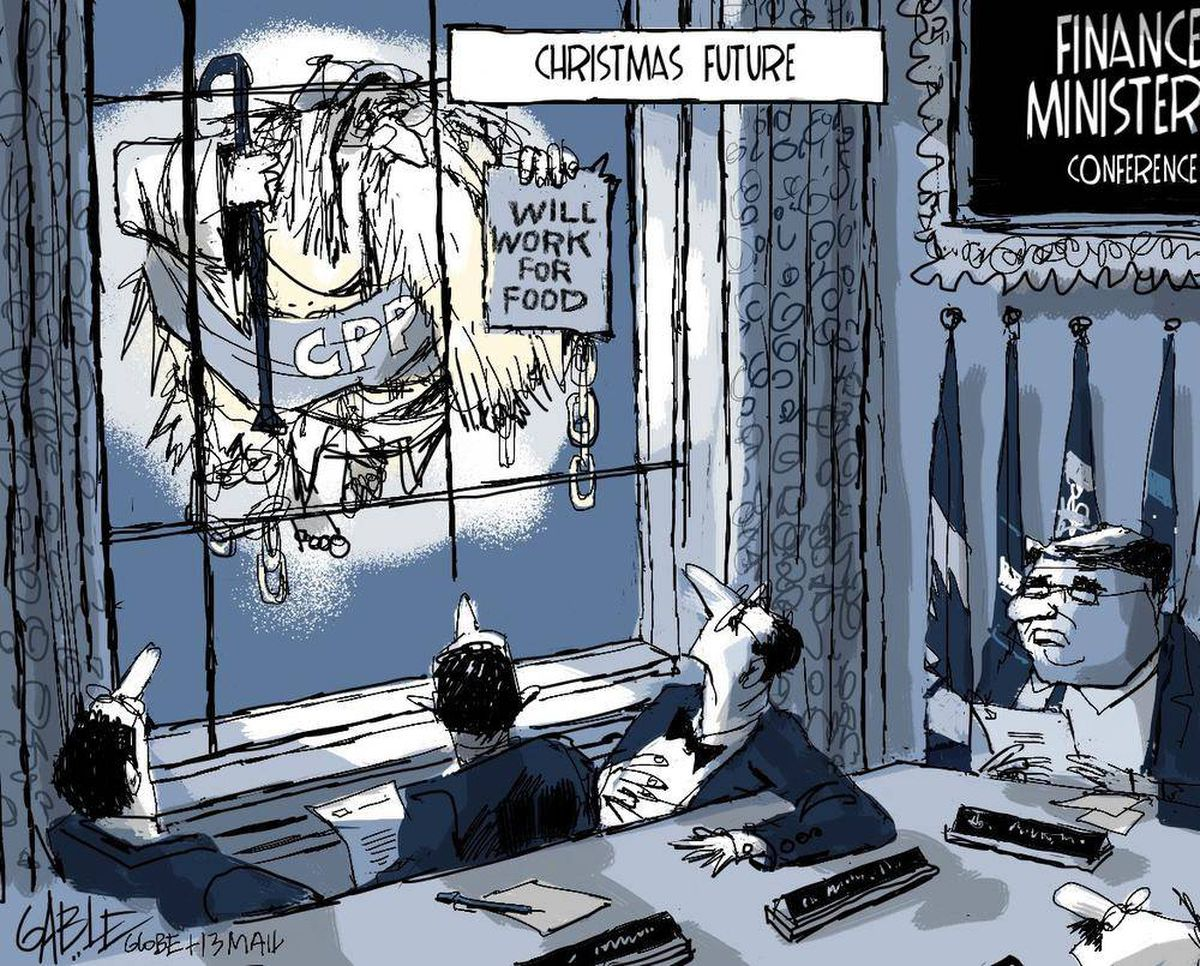 Cartoon by Brian Gable for The Globe and Mail