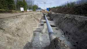 The site of the damaged Rainbow pipeline is now repaired and replaced with new pipeline.