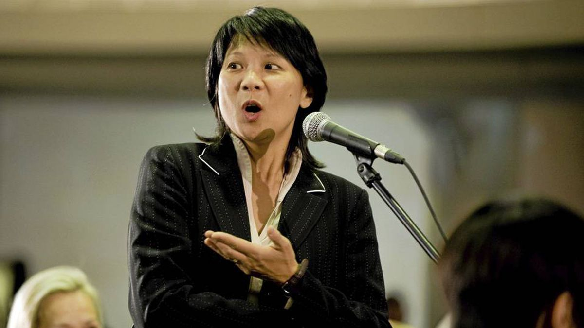 Olivia Chow speaks at a G20 briefing in April in Toronto.