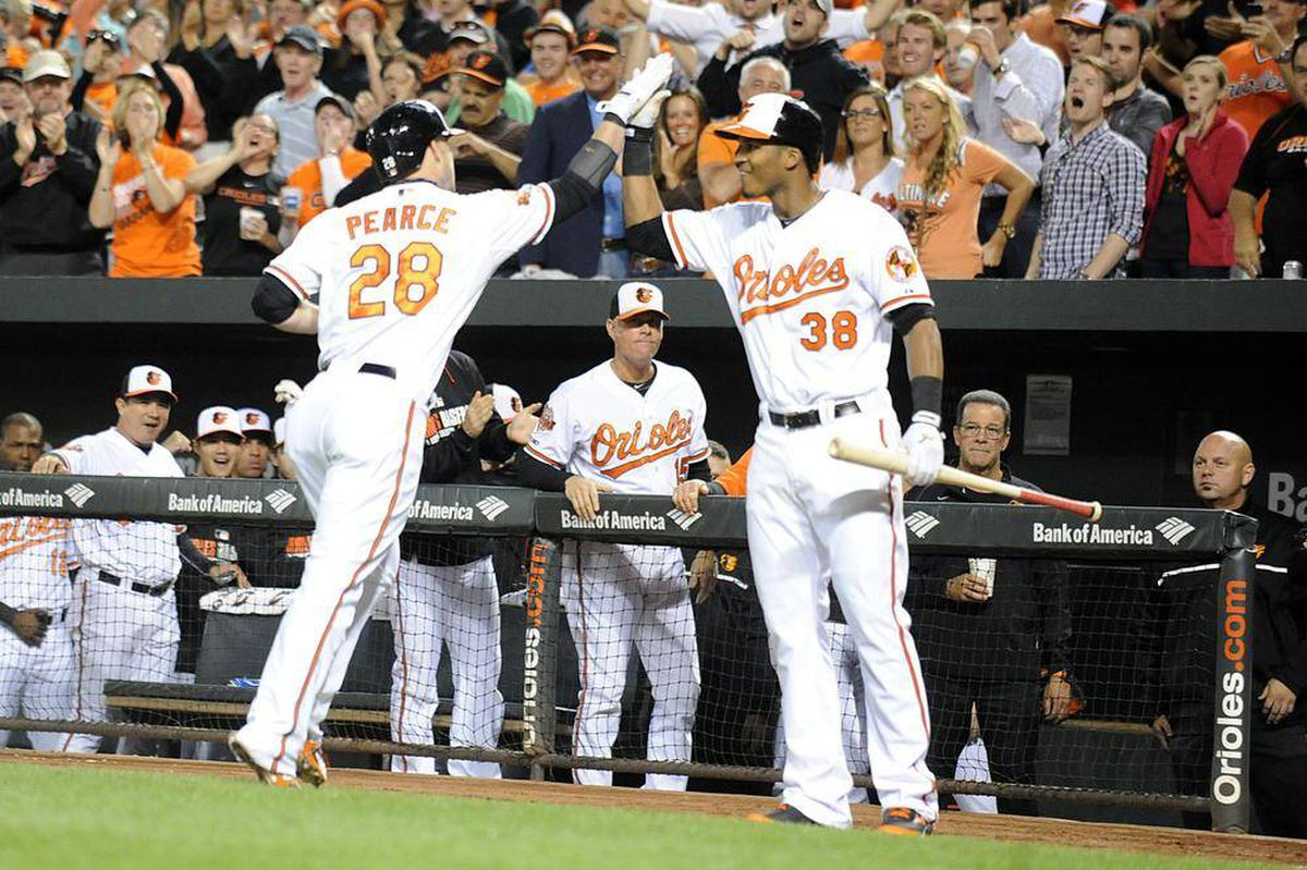 Orioles clinch al east title with win over blue jays the for Major motors baltimore maryland