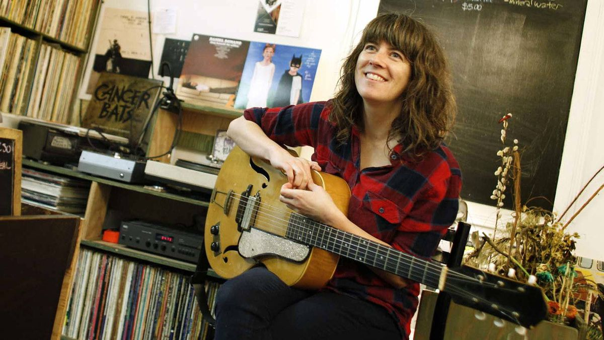 Singer-songwriter Julie Doiron at Saving Gigi coffee shop in Toronto.