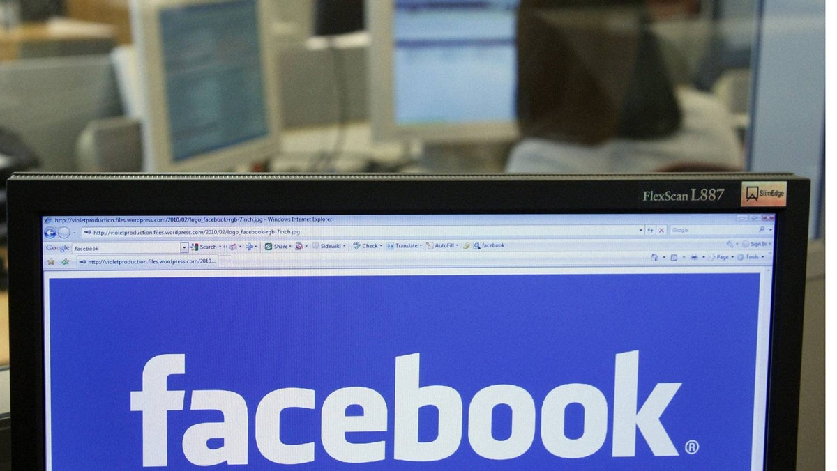 The Facebook logo is displayed on a computer screen in Brussels April 21, 2010.