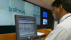 Sales rose by about a sixth at Infosys, one of the top three suppliers in the outsourcing business.