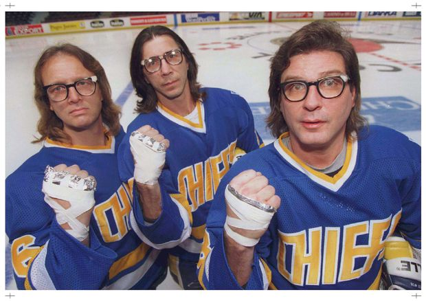 Bespectacled Hanson brothers still drawing crowds decades after Slap Shot