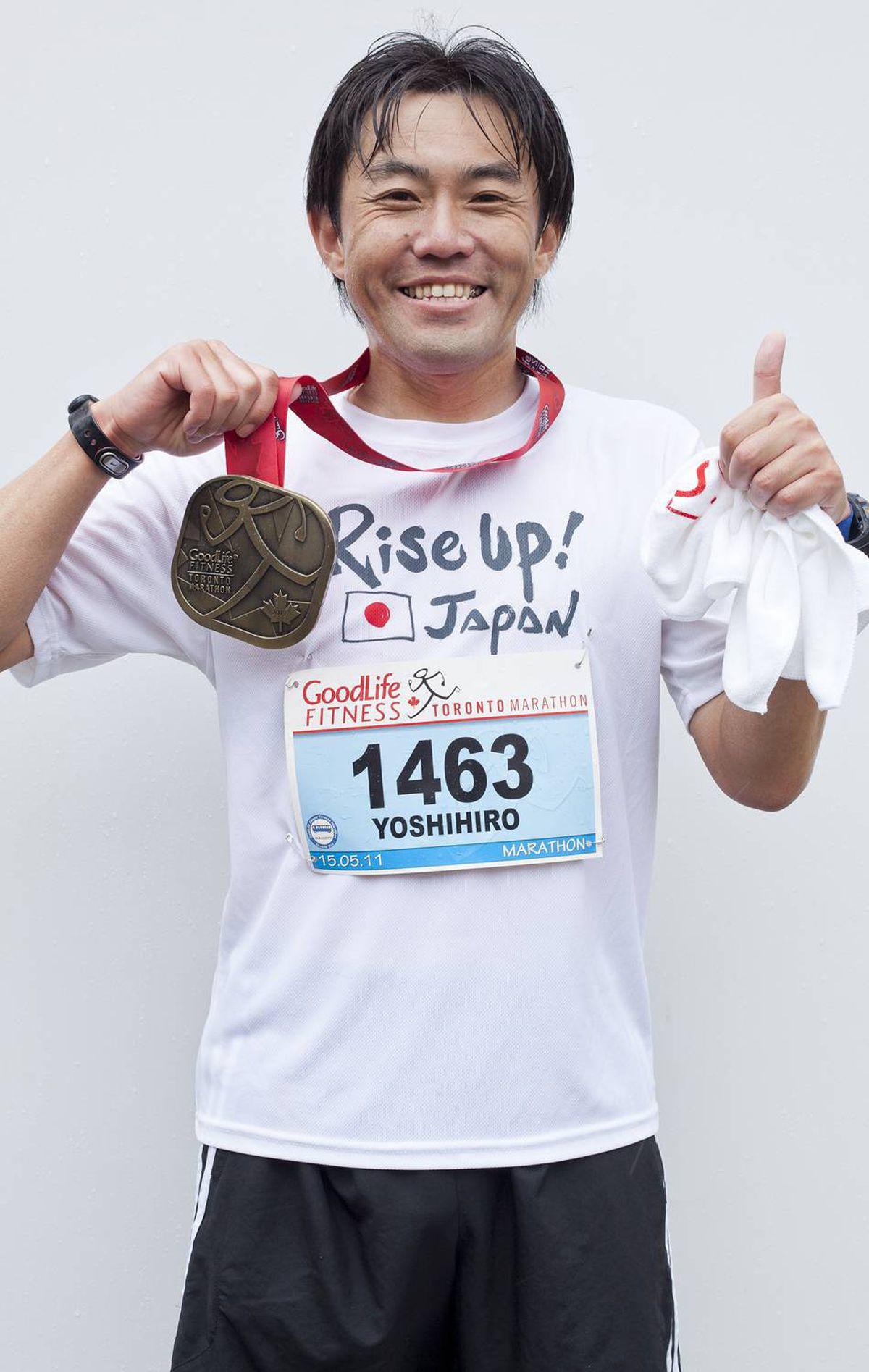Yoshihiro Nozaki , Rochester finished 37th - 3:05:26.1 Ryan Enn Hughes For The Globe and Mail
