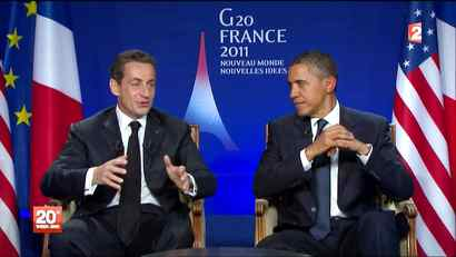 French President Nicolas Sarkozy and U.S. President Barack Obama's frustrations at Benjamin Netanyahu, Prime Minister of Israel, got a wider audience than they intended when their microphones picked up a snarky exchange about the Israeli leader at the G20 summit in Cannes, France.