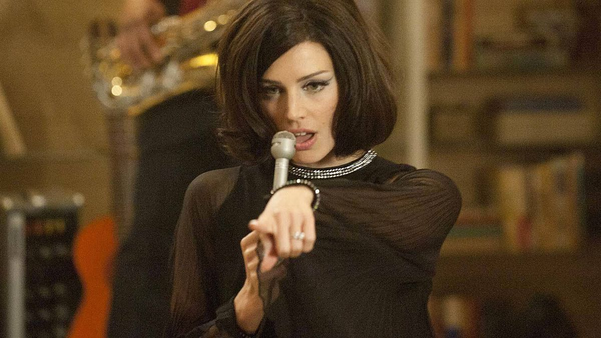 "Jessica Pare as Megan Calvet in a scene from an episode of ""Mad Men?"