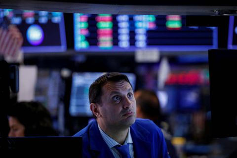 Wall Street declines on tech selloff, North Korea concern
