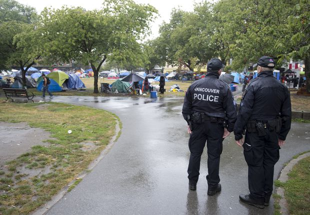 Situation at tent city in Oppenheimer Park is deteriorating, Vancouver police say