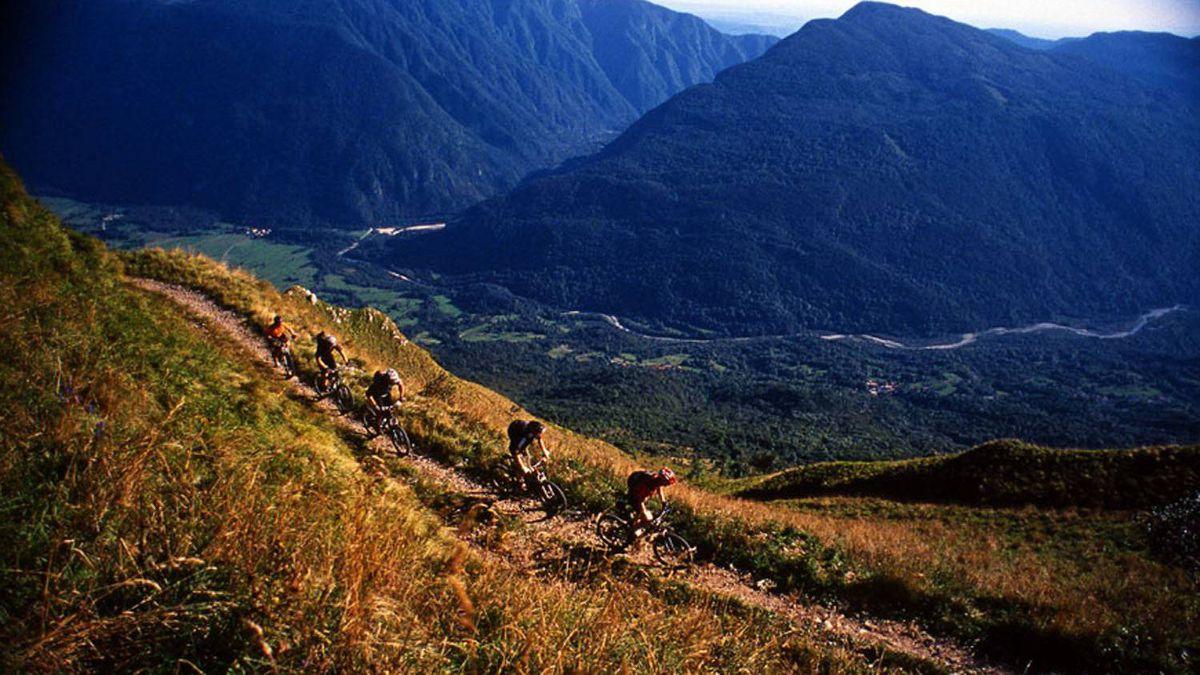 Soca Valley, in the Julian Alps of Slovenia