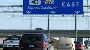 Vehicles travel on the Highway 407 toll road north of Toronto. Louie Palu/The Globe and Mail