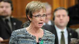 Interim NDP Leader Nycole Turmel speaks during Question Period in the House of Commons Dec. 14, 2011.