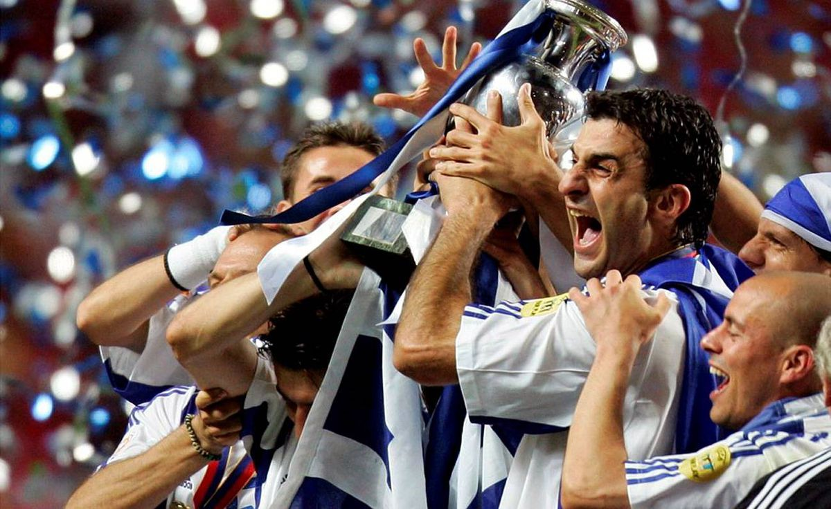 In just its second appearance in the tournament finals, Greece stunned soccer's established order as a 100-to-1 rank outsider, beating hosts Portugal twice as well as defending champion France on its way to being crowned king of Europe.