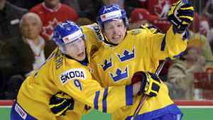 Sweden's Max Friberg has led the Swedes in scoring at the world juniors.