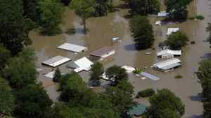 Houses and property along the Mississippi River near Tunica, Miss., are flooded by the Mississippi River, Wednesday, May 11, 2011.