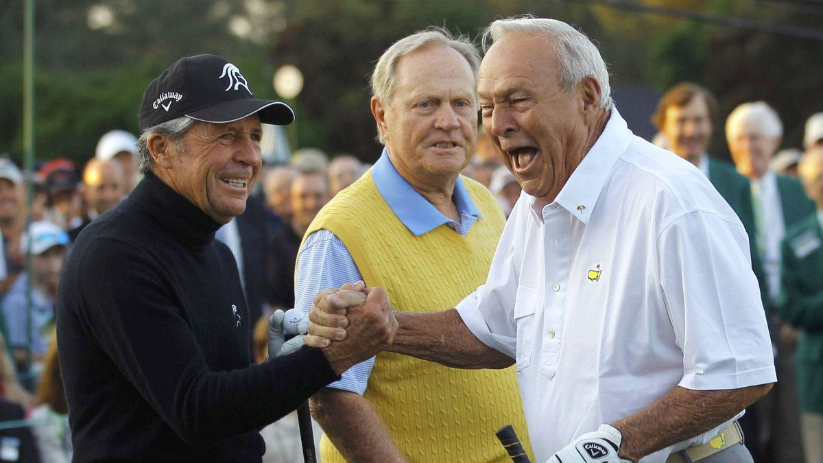 Gary Player, Jack Nicklaus and Arnold Palmer