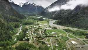 An overview of the town of Kemano, B.C.on May 28, 2001.