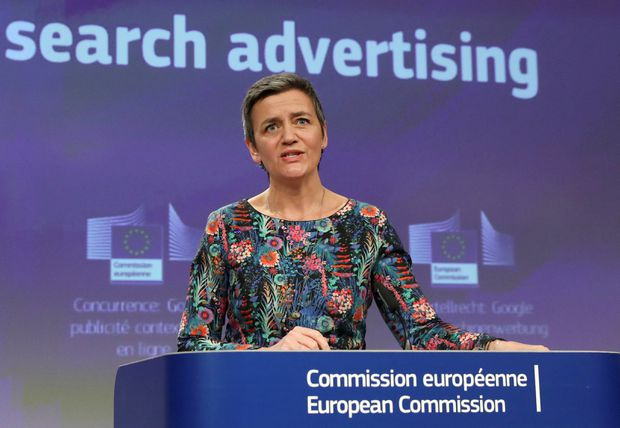 European Union hits Google with €1.49bn fine for 'blocking rival search engines'