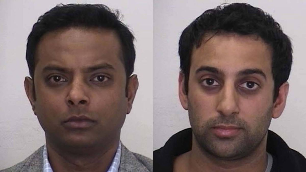 Suganthan Kayilasanathan, 32, left, and Amitabh Chauhan, 32, have been charged as part of a sexual assault investigation.