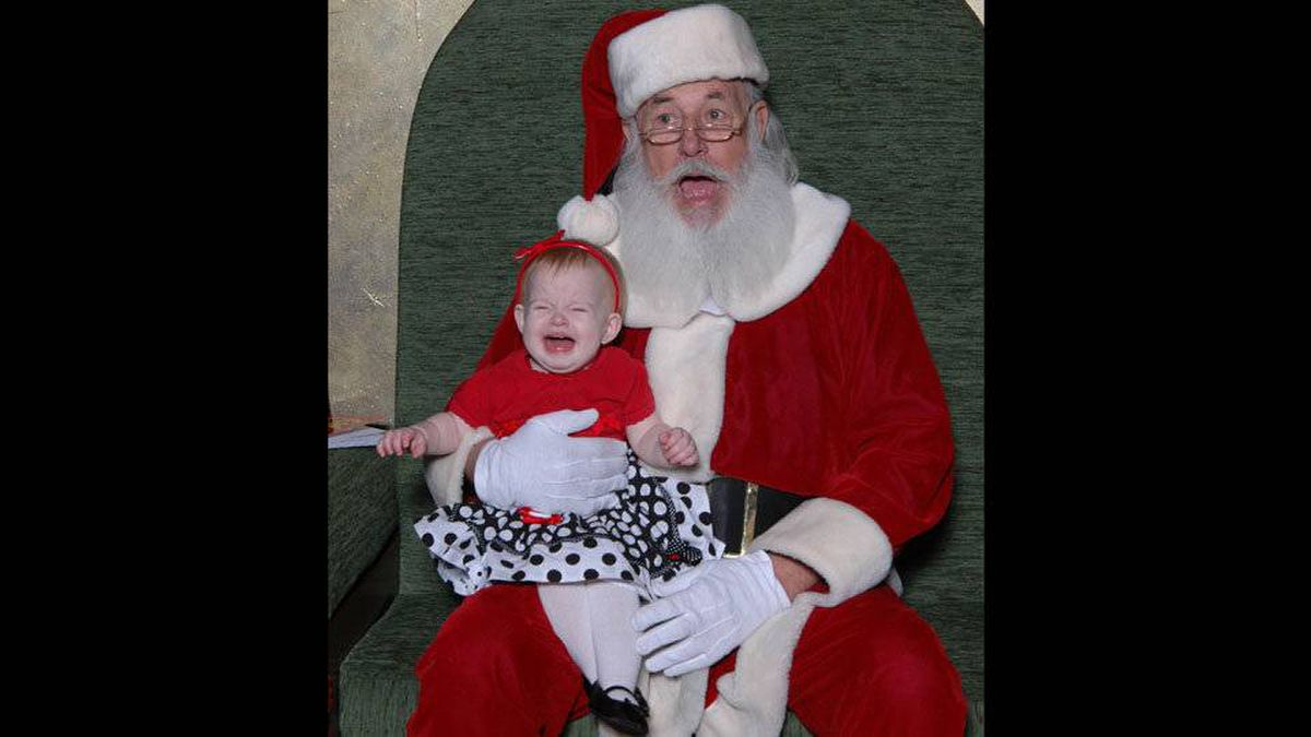 Alison Bruce writes: My beautiful girl Eloise English, 10 months. Took her to meet Santa at Southcentre. This was an instant reaction.