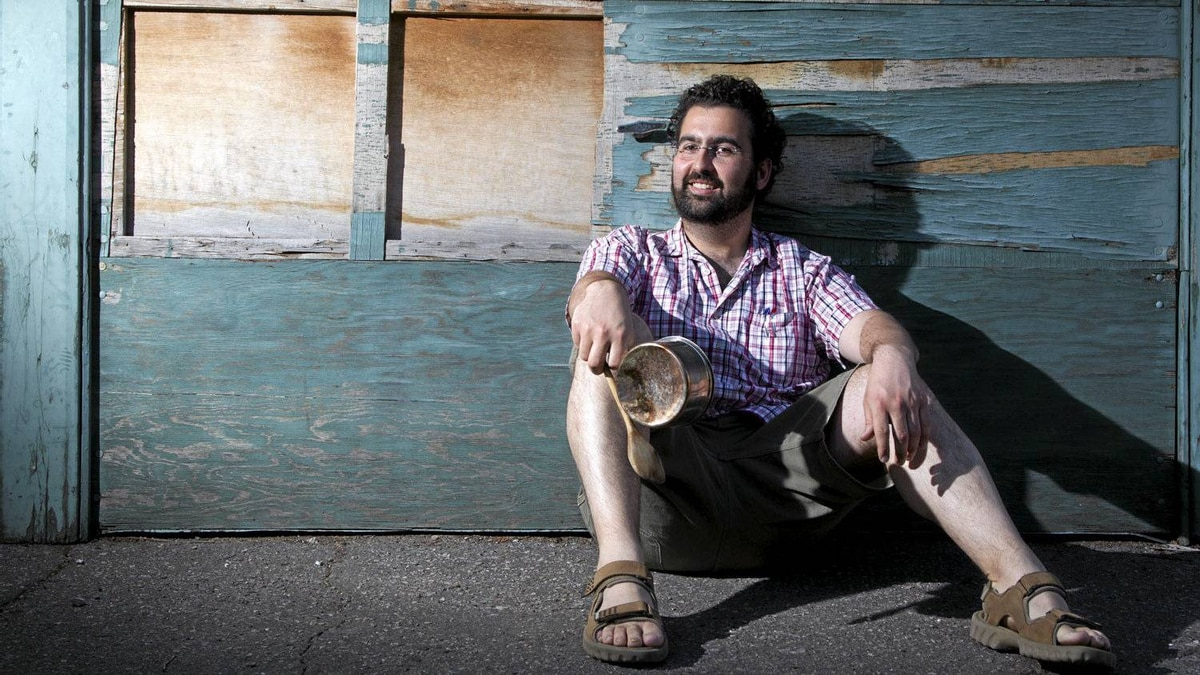 François-Olivier Chené, a teacher at Cegep de St-Hyacinthe, started the movement to bang pots and pans instead of vandalism during the student protests in Montreal, May 30, 2012.