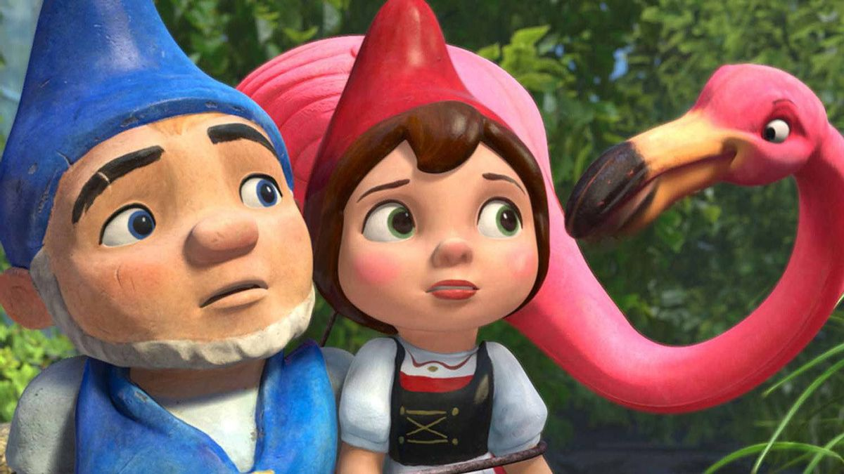 A scene from Gnomeo and Juliet